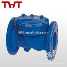 válvula de retenção fechada com balanço de vedação suave tipo flange dn