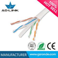 Utp Ftp Cable de comunicación Sftp Cat6 / 4 pares 24AWG cable de comunicación utp cat5e