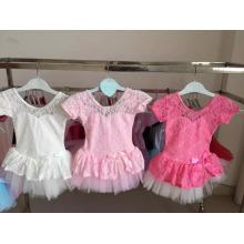 vestido de la danza del cordón de las muchachas del bebé vestido de tutú de lujo para las niñas lindas