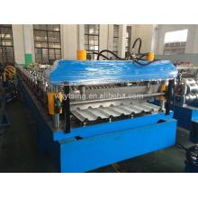 Pass CE e ISO YTSING-YD-0611 Folha de telhado de metal fazendo rolo de camada dupla formando a máquina