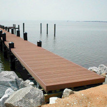 Long Service Life Anti-Slip WPC Wooden Decking Flooring for Marina and Flooring