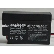 12V 0.8AH bateria de ácido de chumbo com boa qualidade