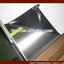 feuilles d'acier inoxydable 2B BA finition 201 304 316 430