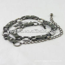 Lady's Leather Belt Chain Waist Leather Belt