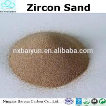 prix inférieur zircon sable 66% -67purity