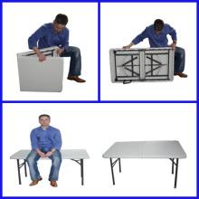 Mesa dobrável 4 'Mesa de piquenique ao ar livre em plástico portátil