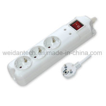 3/4/5/6 Ports Euro Germany Power Strip with Surge Protector