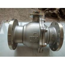 Válvula de bola de acero inoxidable con extremo de brida para válvula de brida (Q41)