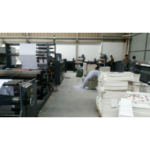 High Speed Flexo Printing Glue Wrapping Notebook Making Line