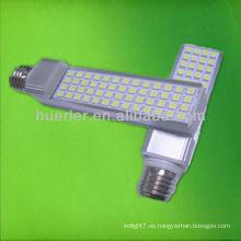 Alto smd5050 brillante 7w g24 llevado pl lámpara de la bombilla