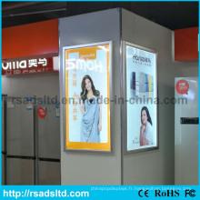 Boîte à lumière murale de cadre d'affiche de LED