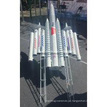 Parafuso de aterramento HDG para sistema de montagem solar, âncora de parafuso de aterramento