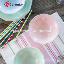 Tigela de sopa de cerâmica tigela de pipoca de cerâmica