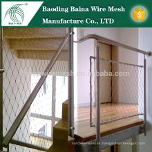 Nueva valla del acoplamiento de la cuerda de alambre del acero inoxidable de la llegada / cable la fabricación de la cerca del acoplamiento de alambre