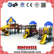 Estrutura do jogo ao ar livre plástico das crianças do certificado do Ce