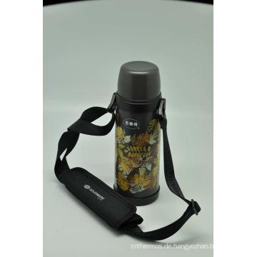 Hohe Qualität 304 Edelstahl Isolierflasche Doppelwand Isolierflasche Svf-800e Grau