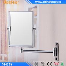 Rectangle en laiton 3X Magnify Miroir cosmétique décoratif