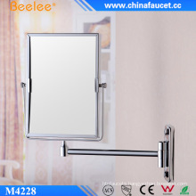 Brass Rectangle 3X Magnify Decorative Cosmetic Mirror