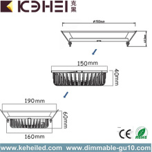 18W 30W 40W 6 Downlights de 8 pouces LED