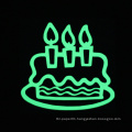 Birthday Cake Sticker Luminous Wall Sticker Glow in the Dark Home Decor Birthday Sticker