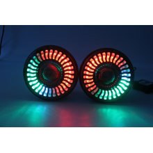 LED Headlight Bulb 7 Inch Round LED RGB Halo LED Headlights Assembly with Bluetooth Control