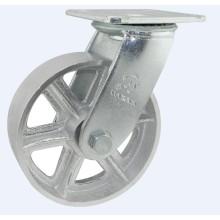 H11-1heavy Duty Fixed Type Double Ball Bearing V Mode Cast Iron Wheel Caster