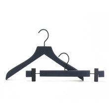 Luxury Fashion Shop Rubber Coating Wooden Clothes Hanger