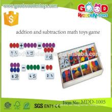Juguetes preescolares pequeños de madera Juguetes premiados de matemáticas educativas y juegos de aprendizaje para niños MDD-1005