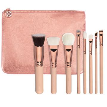 8piece 100% Vegan розовое золото Набор кистей для макияжа (ST0804)