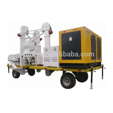 mobile seed cleaning and bagging plant