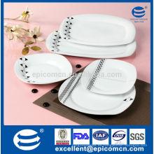 20PC-EX7383 etiqueta sana barata y buena vajilla de material de porcelana cruda conjunto