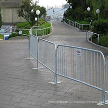 Galvanisierte Crowd Control Barriere für Trennung