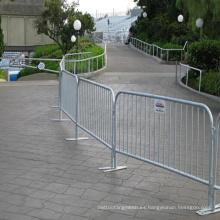 Barrera de control de muchedumbre galvanizada para separación