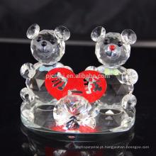 Estilo especial de cristal ursinho de pelúcia para decoração de casamento