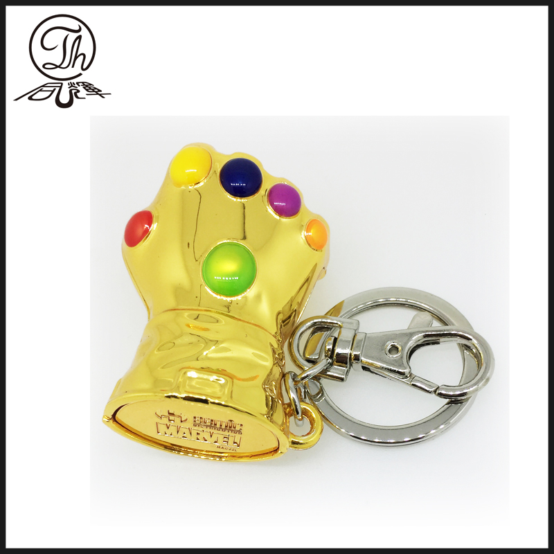 Marvel key rings,The glove of thanos metal key rings