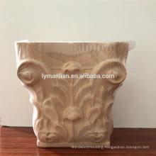 Floral Roman Corinthian Small Capital post