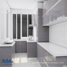 Pole L Shape UV Kitchen Cabinet