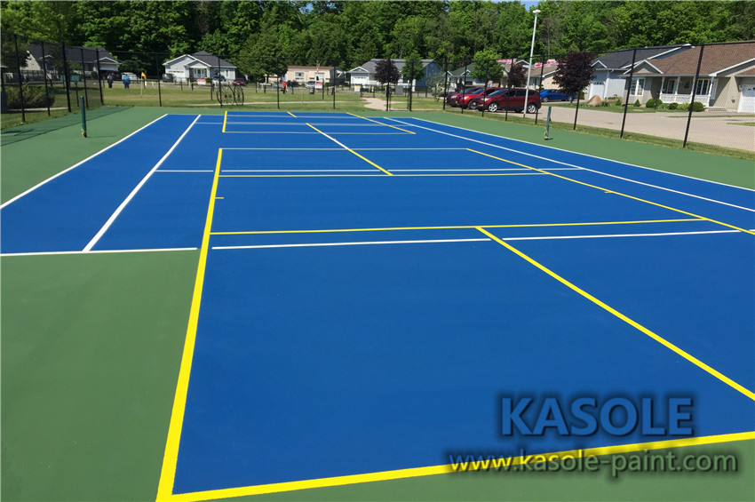 Tennis court acrylic material cost