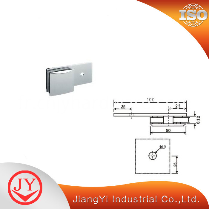 Brass Glass Clamp Hardware GC-6-180B