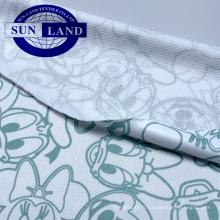 maille de polyester d'impression de maille d'oeil d'oiseau de polyester 100 pour l'uniforme scolaire t-shirt le sport