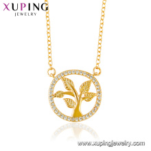 44442 xuping jewelry 24k gold plated life of tree round Elegant pendant necklace