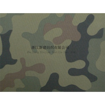 300D Polyester Camouflage Fabric with PU Coating