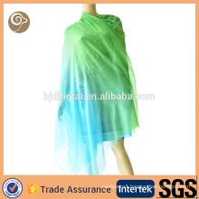 Color gradient pure mongolian cashmere scarf