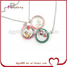 steel jewellery 12 kinds color 30mm floating pendant floating locket