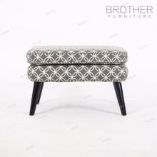 Cadeira de móveis de casa de estilo de Barcelona otomano cinza de madeira
