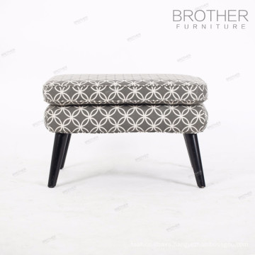 Barcelona style house furniture chair wooden grey ottoman