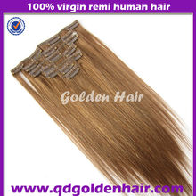 Chinese Remy Clip In Hair Extensions For African American