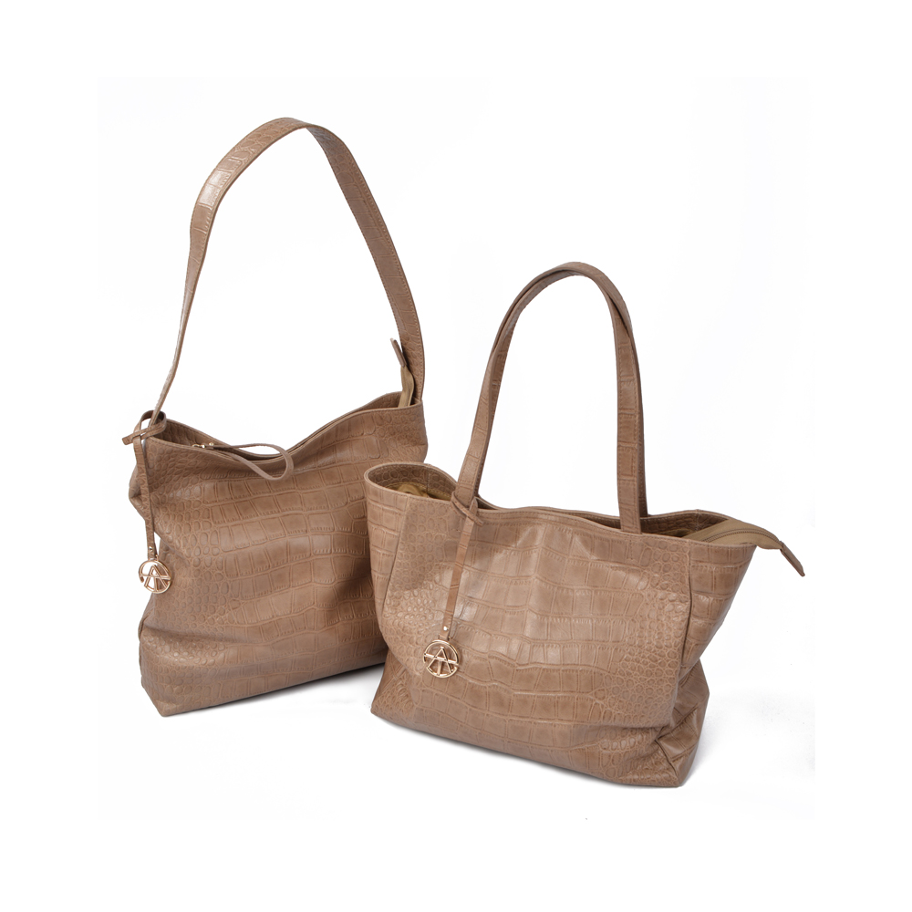 Man made Genuine leather handbags hobo bags
