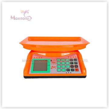 Escala eletrônica plástica de 30kg (30 * 29.5 * 13cm)