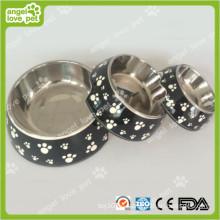 Klassische Plastik-Fußabdruck-Muster-Plastikhaustier-Hundeschüssel